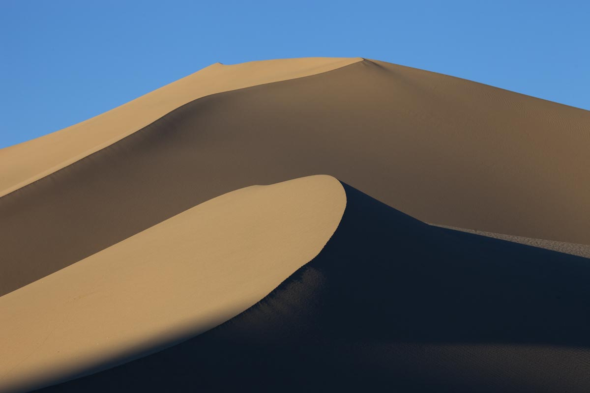 photo of star sand dune, Death Valley, California