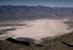 View of Death Valley salt pan
