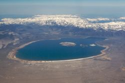 Mono Lake and east edge of Sierra Nevada