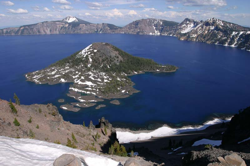 Crater Lake Caldera, Oregon.