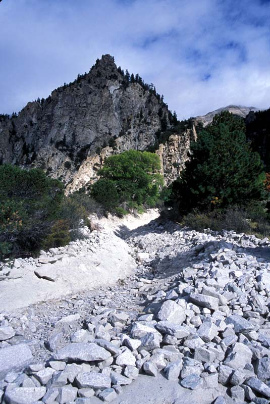 photo of debris flow channel, Colorado