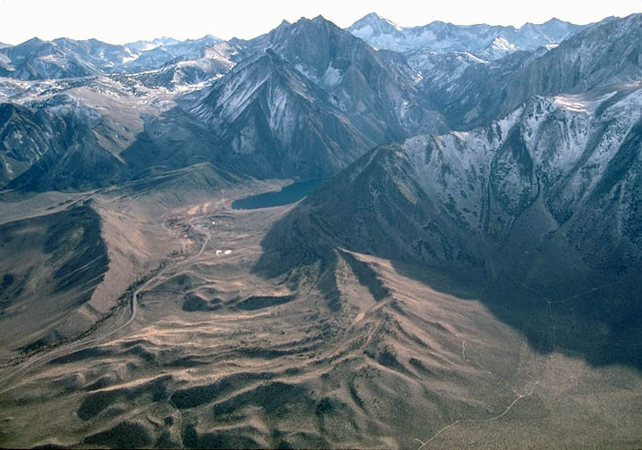 Aerial Photo Of Terminal And Lateral Moraine Sierra Nevada